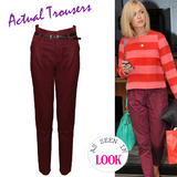 Belted Chino Trousers In Wine